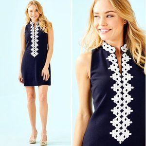 Lilly Pulitzer Navy Callista Shift Dress XXS